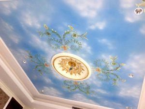 Gallery 24 งานเพ้นท์ฝ้าเพดานตึก พว.ศูนย์ขายหนังสือ ถ.ราชวัติ